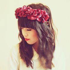 Wine rose crown #FlowerShop