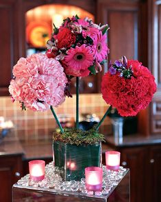 I love these center pieces!