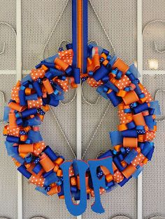 Fingers Crossed!: University of Florida Ribbon Wreath