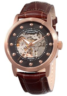 Price:$105.10 #watches Stuhrling Original 107D.3345K1, These elegant and classic value priced watches have been produced to join the Delphi family.The Delphi watches have become all time favorites with their intricate mechanical see-through design and sophisticated styling.