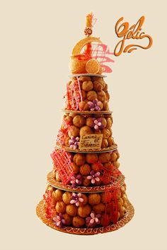 * Croquembouche, French Wedding Cakes, Donut Holes, Here Comes The Bride, Beautiful Cakes, Decoration, Centerpieces, Sweets, Baby Shower