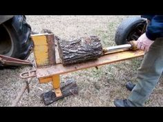 How to build a Homemade Log Splitter - The Lighthouse Lady - YouTube