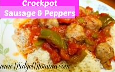 Crockpot Sausage and peppers Recipe (no rice)