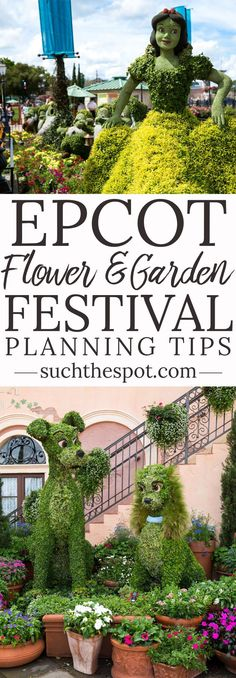 These Epcot Flower and Garden Festival tips will guide you in planning the perfect festival day for your family. This virtual visit to the event offers tips on what to see, do and eat. #Disney #Epcot #flowerandgarden #familytravel