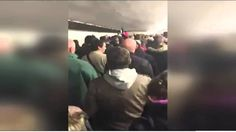 """French fans sing in solidarity the National Anthem """"La Marseillaise"""" during evacuation from Stade de France ◘ VideoClip▶"""