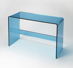 Butler Loft Crystal Blue Acrylic Console Table