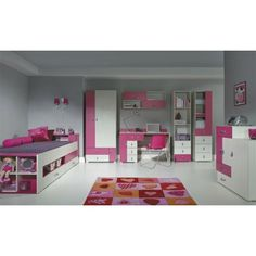 Miranda C A complete set of colorful kids furniture to furnish the bedroom of our younger generation. Product Features: Set is made of high-quality MDF, the board finished with PVC partially Wood Bedroom Sets, White Bedroom Decor, Kids Bedroom Sets, Cheap Nursery Furniture Sets, Modern Kids Furniture, Children Furniture, Home Furniture Shopping, Furniture Sale, Baby Room Set
