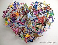 """#Coração ♡ #ArteModerna ☆ """" Escultura em Metal """" Escultor : David Kracov #Botas...☆★"""