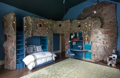 Shouldn't all little boys and girls have a rock climbing wall in their room? Seldom Scene Interiors