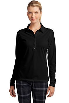 Nike Golf Ladies Long Sleeve DriFIT Stretch Tech Polo 545322 -- Click on the image for additional details.