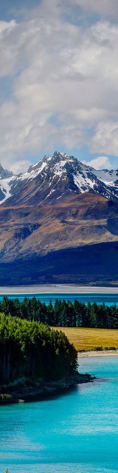 """The Blue of Lake Pukaki - from the Exhibition: """"Cropped for Pinterest"""" - photo from #treyratcliff Trey Ratcliff at www.StuckInCustoms.com"""