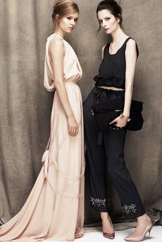 Nina Ricci Resort 2012 Fashion Show - Josephine Skriver and Suzie Bird.