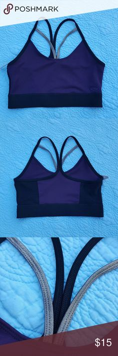 Brand New Champion Strappy Sports Bra Deep purple sports bra with mesh detailing on the back and extra metalic straps on the front. Champion Intimates & Sleepwear Bras