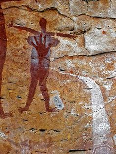 Sandy Creek Aboriginal Rock Art Site, in Northern Queensland.
