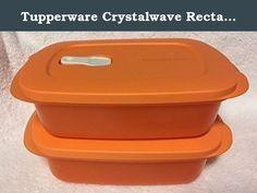Tupperware CRYSTALWAVE PLUS RECTANGULAR CONTAINER Brilliant Blue ~9-1//2 Cup~ NEW