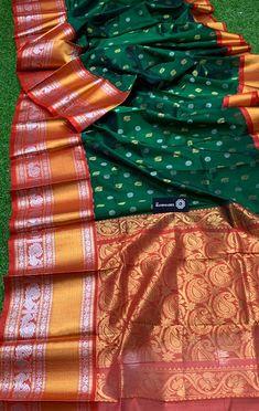 Elegant Fashion Wear Explore the trendy fashion wear by different stores from India Kuppadam Pattu Sarees, Pattu Saree Blouse Designs, Elegant Fashion Wear, Trendy Fashion, Unique Colors, Color Combinations, Dresses, Gold, Women