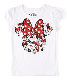 This White Minnie in Minnie Tee - Girls by Minnie Mouse is perfect! #zulilyfinds