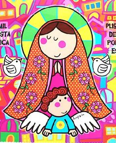 Madonna And Child, Girls Quilts, Inspirational Gifts, Rock Art, My Images, Diy And Crafts, Cross Stitch, Greeting Cards, Embroidery