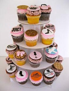 Fashion Designer Label Cupcakes...<3