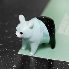 New Mint Bear design I have been painting recently!  Even more bears are coming soon so stay tuned!^^ #ramalama #ramalamacreatures #wip #workinprogress #mint #bear #handmade #sculpture #polymer #clay #miniature #figurine #turquoise #polymerclay #fimoclay #fimo #etsy #space #cosmos