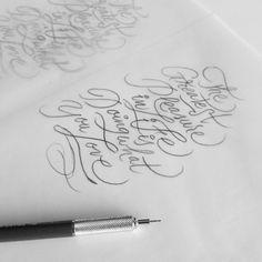 Handletering tutorial: how to practice brushpen lettering over tracing