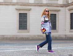 All the pretty birds » Milan Fashion Week Street Style Day 1 – Looks to Love Elina Halimi