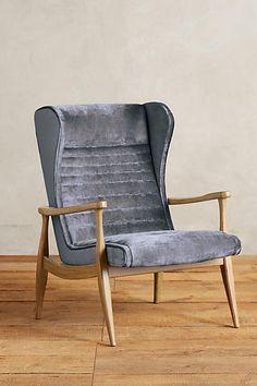 Anthropologie Slub Velvet Roadway Chair #anthroregistry