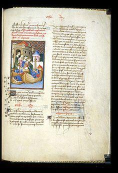 Harley 4431 fol 131 (Ceyx and Alcyone). Paris, France 1410-1414.