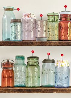 Vintage Kitchen ~With all the stuff my family comes across this could be good info.~ The Collector's Guide to Canning Jars - Antique Mason Jars - These vintage canning jars from the to the are the staple of retro country charm.