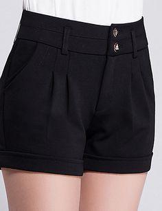 De las mujeres Pantalones Cortos-Simple Microelástico-Algodón 5021796 2016 – $12.99