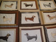 Dachshund quilt....I did not need to know there were such things.