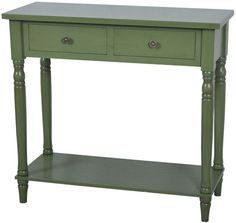 Crestview Collection FZR675SG Treasure Collection Sage Green 32 X 14 X 30.5