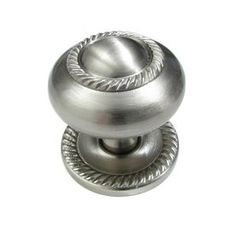 Richelieu Hardware - Brushed Nickel Finish in. Traditional and Classic Knob - It features a traditional design and rear mount installation. This collection is an innovator in craftsmanship, design and style. Kitchen Cabinet Knobs, Kitchen Cabinets In Bathroom, Cabinet Hardware, Cabinet Molding, Kitchen Themes, Kitchen Ideas, Kitchen Decor, Wood Cabinets, Brushed Nickel