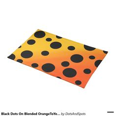 Black Dots On Blended OrangeToYellow Cloth Placemat