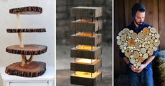 20 Wooden Decorations To Make Your Home Cozier :http://www.wwideas.com/2017/04/20-wooden-decorations-to-make-your-home-cozier/