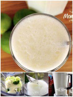 E para beber? Vai de Limonada Suíça com limões frescos, leite condensado de liquidificador