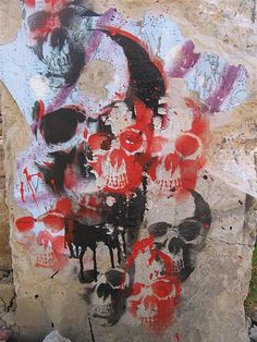 COLOMBIA / BGT / LOS LACHES by NAZZA STENCIL /////*, via Flickr Stencil Street Art, Graffiti Art, Bones, Cool Photos, Stencils, Painting, Image, Atelier, Colombia