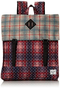 Herschel Supply Co Survey Rust Plaid Polka DotGrey PlaidBlack Rubber One Size >>> Learn more by visiting the image link.