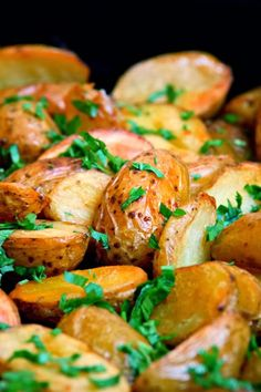 Oven Roasted Potatoes | This is a great, tasty, quick side dish and healthier than mashed potatoes or loaded baked potatoes,,