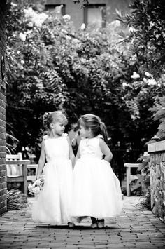 What sweet little flower girls. Photography By / http://modernlifeportraits.com,Floral Design By / http://gatheredstems.com