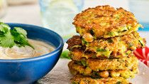 Chickpea and zucchini fritters (BH&G)