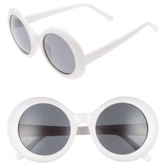 Women's Bp. 51Mm Oval Sunglasses (685 RUB) ❤ liked on Polyvore featuring accessories, eyewear, sunglasses, white, mod sunglasses, white glasses, oval glasses, white oval sunglasses and white sunglasses