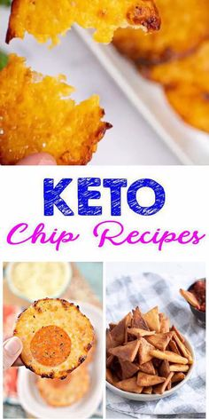 TASTY keto chips you won't be able to stop eating! EASY low carb chip recipes you are going to love. Find 7 keto chip recipes from cheese chips to tortilla… Low Sugar Recipes, Low Carb Dinner Recipes, No Sugar Foods, Low Carb Desserts, Keto Recipes, Dessert Recipes, Quick Recipes, Low Carb Chips, Low Fat Low Carb