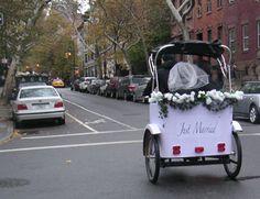 Chicago Rickshaw Pedicab Wedding