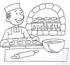 Dibujos infantiles para colorear de oficios y profesiones - Imagui