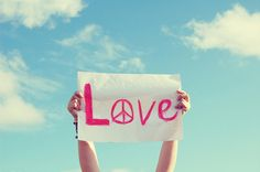 clouds, cute, love, peace, pink, sky