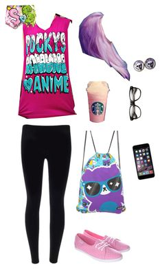 """""""Untitled #5324"""" by northamster ❤ liked on Polyvore featuring Vans, Cotton Candy and cutekawaii"""