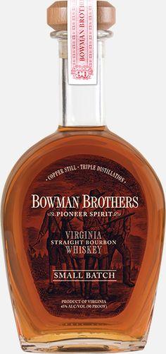 Bowman Brothers Pioneer Spirit Virginia Straight Bourbon Whiskey