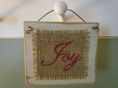 Small Rectangular Wooden Ornament Painted White And Distressed