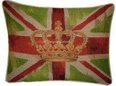 Union Jack Lime Green Design 1 Oblong Tapestry by designercushions